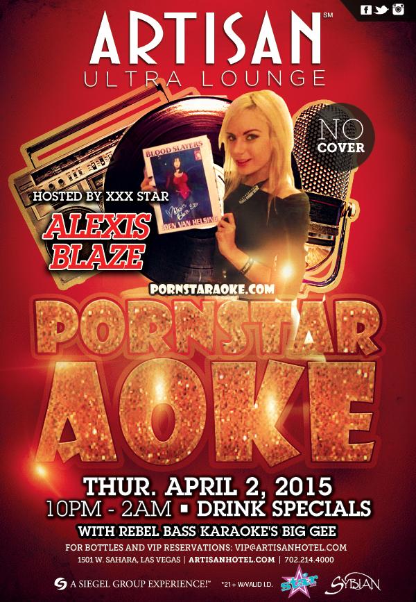 Alexis Blaze Hosts Pornstaraoke 4/2 in Las Vegas