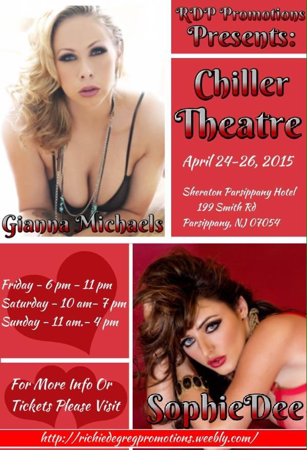Gianna Michaels and Sophie Dee at Chiller Theatre Expo this Weekend