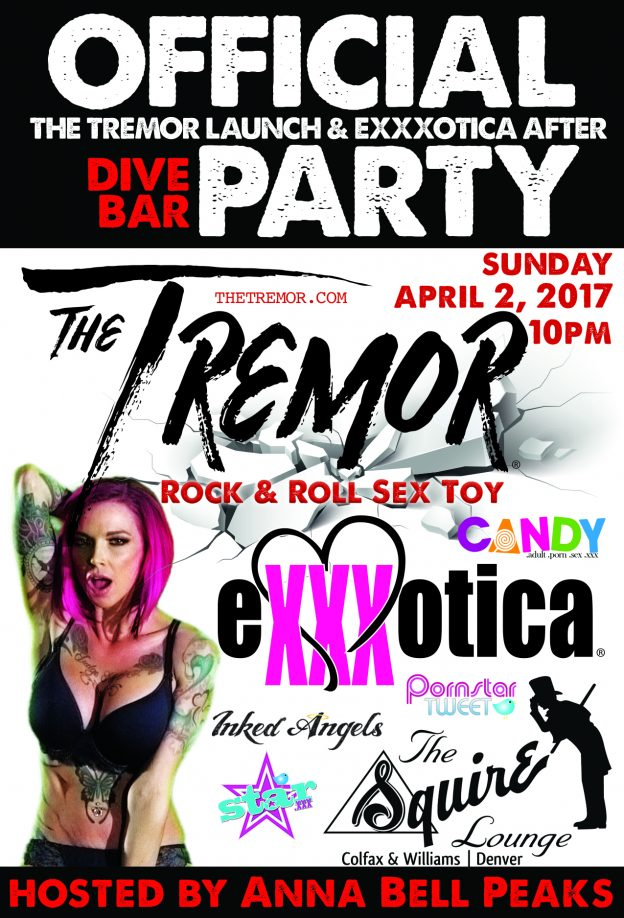 The Tremor to host Official Exxxotica Denver Expo Post Show Dive Bar Party with Special Guest Anna Bell Peaks