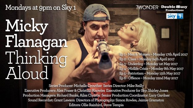 "Porno' Dan Leal to Appear on Micky Flanagan's ""Thinking Aloud"" on Sky 1, May 1st"